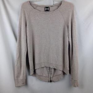 Bordeaux tan hi-low hem sweater shirt as small